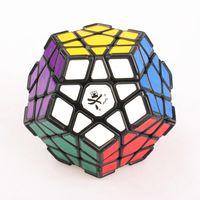 DaYan Megaminx Magic Puzzle Cube Profesional Negro Twisty Puzzle Cube Juguetes con Corner Ridges