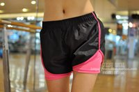 Wholesale Women in Sports Shorts WithTight Lining Girls Running Shorts Quick Dry Fitness Training Cycling Trousers pantalones