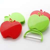 apple vegetable - Stainless steel multi function folding Apple shape Paring knife Fruits and vegetables Convenient travel cutting tool B121