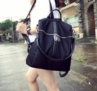 Wholesale Nylon shoulder bag female Korean version of the new simple canvas backpack fashion trend dual use student couple bag