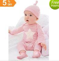 Wholesale Baby Ins Clothing Sets Christmas Romper Pants Hats Xmas Elk Onesies Leggings Beanie Deer Bowknot Tops T Shirt Letetr Ins Outfits Set B1408