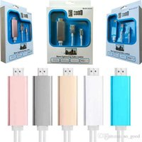 Wholesale Dock to HDMI MHL HDTV TV Adapter M USB Cable P for iPhone S S plus HDMI Cable with retail box