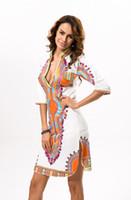 Wholesale 3xl plus size atacado roupas africano dashiki dress para as mulheres casual verão boho hippie imprimir dashiki tecido femme robe femme