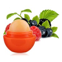 Wholesale Ball Lip Balm Lipstick Organic Ingredients Lip Protector Sweet Taste Fruit Embellish Lip Ball Makeup Lipstick Gloss Colors