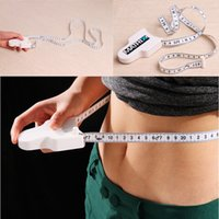 Wholesale 2PCS High Quality m Fitness Accurate Body Fat Caliper Measuring Body Tape Ruler Measure Tape Measure White Body Fat Caliper