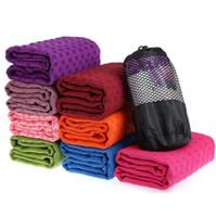 Wholesale Non Slip Yoga Towel Pilates Mat Sport Fitness Exercise Cover Blanket Soft Microfiber Towel Fitness Travel Exercise Yoga Drape Cover F501