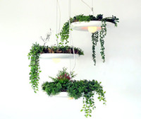 Wholesale NEW LED E27 Hanging Gardens of Babylon Plants Lamp Pots Potted Nordic Tom Creative White Chandelier Lighting Without Plants and Flowers
