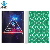 Wholesale OPHIR Patterns Airbrush Stencil Templates Temporary Tattoo Body Painting Art A4 Booklet Set_STE4