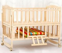 Wholesale Wood crib no paint multifunctional variable desk children bed baby cradleNew Zealand imported pinAdjustable bed stalls can rollovere