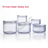 Wholesale 100pcs Skin Care Cream Jar g Plastic Empty Cosmetic Sample Containers Clear Pots Tins CJ44