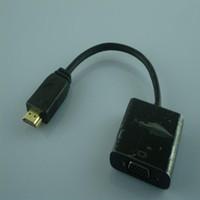 Vga qualité vidéo Avis-Vente chaude de nouveau mâle d'arrivée HDMI à VGA RGB Femelle HDMI à l'adapteur 1080P de convertisseur video de VGA pour la qualité élevée de PC