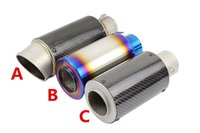 Wholesale Universal mm Motorcycle exhaust Modified Scooter Exhaust Muffle R1 R3 R6 FZ6 Z1000 GSXR600 z800 zx6r zx10r