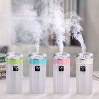 Wholesale Car air fresheners ML Ultrasonic Humidifiers USB Car Humidifier Mini Aroma Essential Oil Diffuser Aromatherapy Mist Maker Home Office