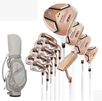 Wholesale A set of golf for women Golf club golf rod sets gold ladies golf Beautiful and fashionable