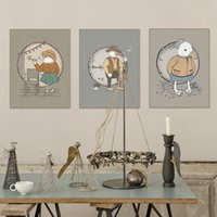 baby birds pictures - Modern Vinage Retro Hand Painted Animal Bird Canvas A4 Art Print Poster Wall Picture Kids Baby Room Home Decor Painting No Frame