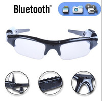 apple camcorders - 2017 Wireless Sunglasses Bluetooth Camera Eyewear Glasses Support TF Card Video Recorder DVR DV Camcorder mp3 earphones