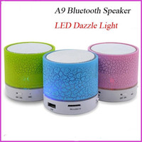 Wholesale HOT A9 Bluetooth stereo DHL Outdoor Portable LED Light Stereo Wireless Bluetooth Speaker With FM For Party