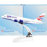 Wholesale British Airways Airbus380 cm Arplane Child Airplane Models Toys Birthday Christmas Gift For Mens