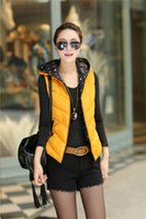 Wholesale The new cotton feather waistcoat female winter ms han edition cultivate one s morality fashion warm hooded short coat thin