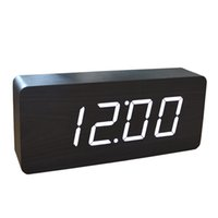 alarm clcok - New Design Wooden clocks LED clcok Digital clocks sounds control Alarm Clocks Big Numbers table clocks