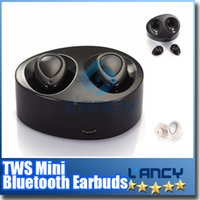 apple socket - TWS Mini Bluetooth Earbuds Wireless Stereo Earphone For iphone i7 plus S7 edge with Charging Socket play music Cell Phone Earphones