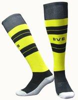 Soccer Men Wool 3 pairs Dortmund AC milan 16 17 soccer socks adult sport men's Knee High cotton soccer stocking thai quality Thicken Towel Bottom long hose