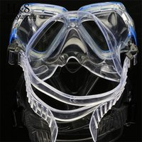 Wholesale wimming Diving Diving Masks New Underwater Sea Scuba Diving Snorkeling Mask Swimming Glasses Dry Snorkel Set Scuba Snorkeling Gear