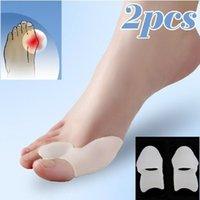 Wholesale Toe Hallux Valgus Corrector Gel Silicone Bunion Corrector Toe Protector Straightener Spreader Separator Foot Care Tool WA2325