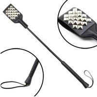 adult rivets - 53cm PU Leather Rivets Fetish Bondage Sexy Whip Flogger Bdsm Sex Toys For Couples Spanking Paddle Sexy Policy Knout Adult Games