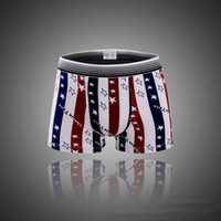 Wholesale Men Fashion Shorts Boxer Briefs Cotton Underpants American Flag Underwear