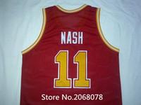 Wholesale high quality Steve Nash Jersey Steve Nash Santa Clara Away College Throwback Basketball Jerseys Stitched Retro Jersey XX
