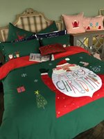 beddings set - 2016 Merry Christmas Bedding Sets Cotton Yarn dyed Flannelette Appliqued Beddings Twin Queen King Size Children Love Beddings