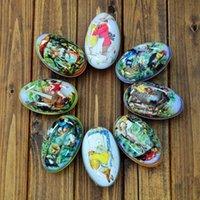 al por mayor san valentín al por mayor latas día-Los nuevos diversos diseños modificados para requisitos particulares al por mayor Forme el caramelo que empaqueta el regalo del festival de los huevos del día de Pascua de la lata 11x6.5x7.5cm