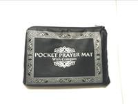 Wholesale pocket prayer mat with compass Muslim Worship Blanket Praying Mat Rugs red blue black dark green light green color