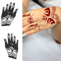 Wholesale Tattoo Stencil Henna Template Reusable Temporary Airbrush Painting DIY Hand Finger Picture Designs Templates for Right Left Hand