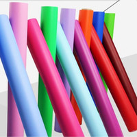 Wholesale LEFU cm m Pure Color Wallpaper Simple style mm thickness different avaliable color Self adhesive Rolling paper per Roll