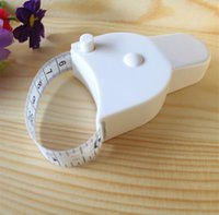 Wholesale Hot selling Fitness Accurate Body Fat Caliper Measuring Body Tape Ruler Measure Mini Cute Tape Measure White