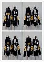 Wholesale 2016 Men s Hoodies Jerseys Brown bettis bell roethlisberger black Top Quality Drop Shipping Jerseys Accept Mix order