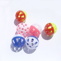 Wholesale New styles Tinkle Bell Ball Pet Toy Plastic Dog Cat Playing Ball Funny Toys Pet Products h105