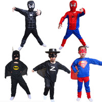 aa cosplay - Red And Black Spiderman Costume Superman Halloween Costumes For Kids Superhero Anime Cosplay Carnival Costume AHE01 AA