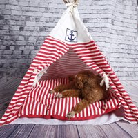 Wholesale Indian Foldable Pet Tent Dog Cat Kennel Nest Wood Pet Puppy Igloo House Dog Kennel Tent
