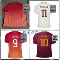 Wholesale TOP AAA quality Rome TOTTI DE ROSSI third Jerseys Rubber Serie A PJANIC DZEKO home away Romas Jerseys shirts