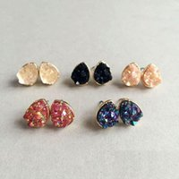 Wholesale Hot Kendra Scott Earring Geometry water drop shinning Stone Colors Cute gift for women and hign quality