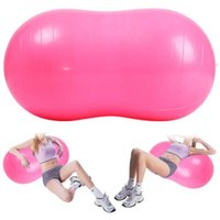 Wholesale cm colors Durable PVC Explosion proof Fitness Gym Yoga Ball Peanut Shape Fitness Exercise Sports Physiotherapy ball