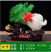 Wholesale 2016Coloured glaze jade cabbage large furnishing articles xi satisfied goods sitting room opening Christmas gifts gifts