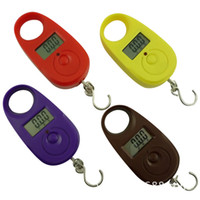 Wholesale 2016 new hot kg x g Mini Electronic Digital Hanging Lage Scale pocket Portable LCD Weight Weighing Scale Yellow Purple