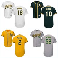 Wholesale Oakland Athletics Flex Base Jersey Mens Chad Pinder Marcus Semien Joey Wendle Khris Davis Baseball Jerseys S XXXL