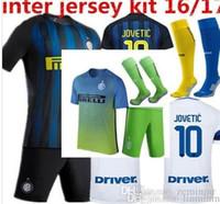 Wholesale Mixed buy Inters milan kit socks Suit jersey JOVETIC BIABIANY EDER PERISIC MEDEL PALACIO ICARDI KONDOGBIA