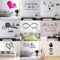 Wholesale New Wall Quotes Decal Words Lettering Saying Wall Decor Sticker Vinyl Wall Art Stickers Decals Hot sale