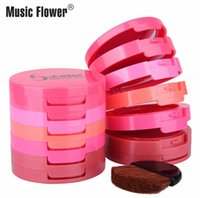 Wholesale DHL Music Flower Color Brusher Palette With Brush Waterproof Blush Face Makeup Cheek Color Blusher